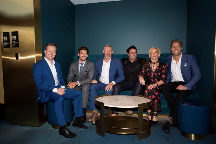 *The Living Room* cast with guest presenter Matty J and Gold Logie winner Grant Denyer.