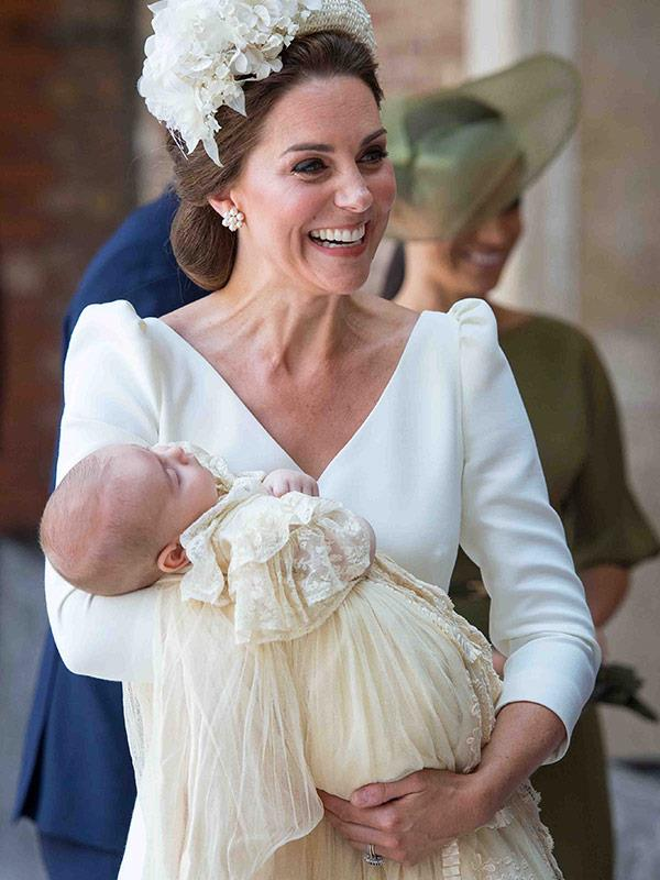Duchess Catherine was one proud mum at Prince Louis' christening. *(Image: Getty Images)*