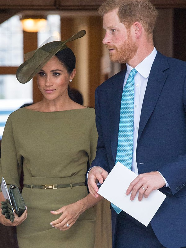Meghan opted to dress in American royalty Ralph Lauren.