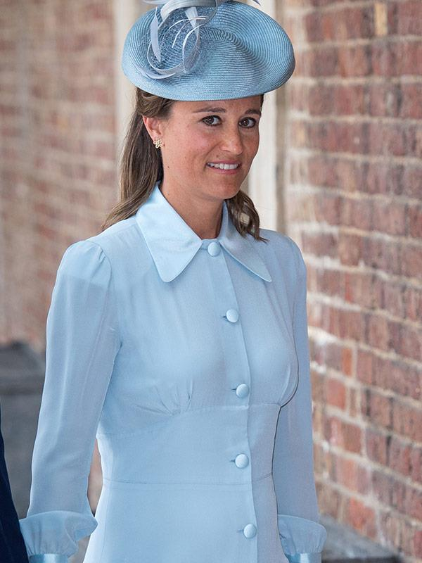 Blue was the colour of choice for Pippa.