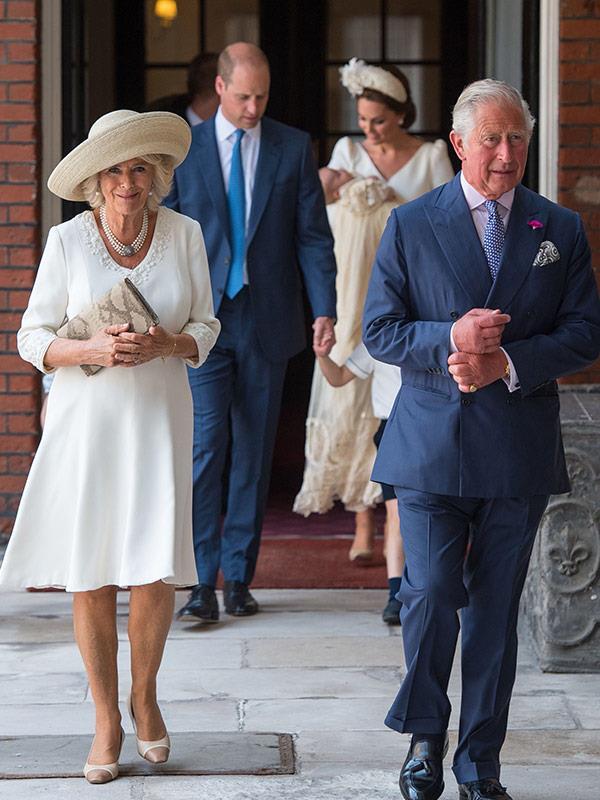 Proud grandparents Camilla and Charles.