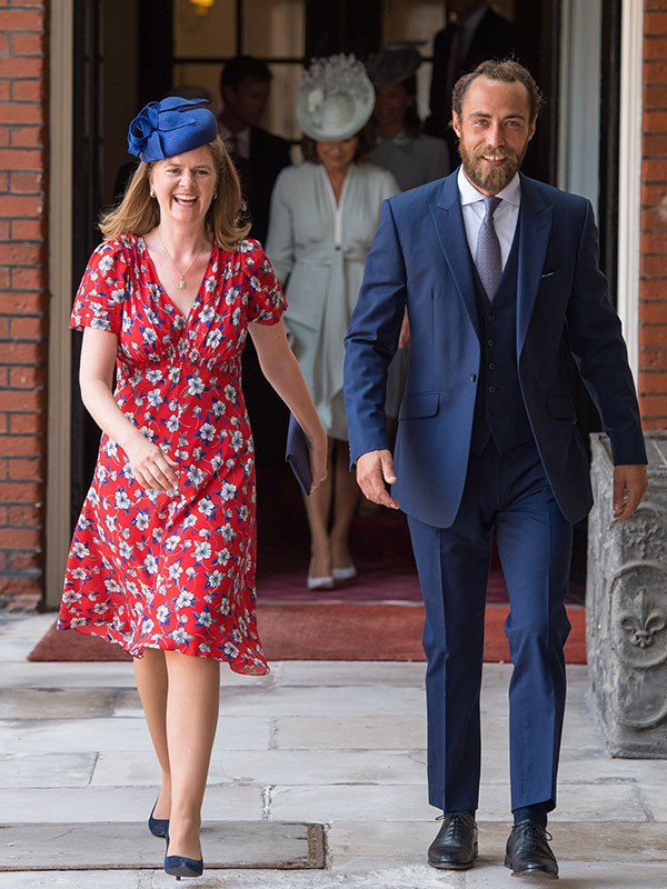 Kate and Pippa's younger brother James Middleton with Lady Laura Marsham.