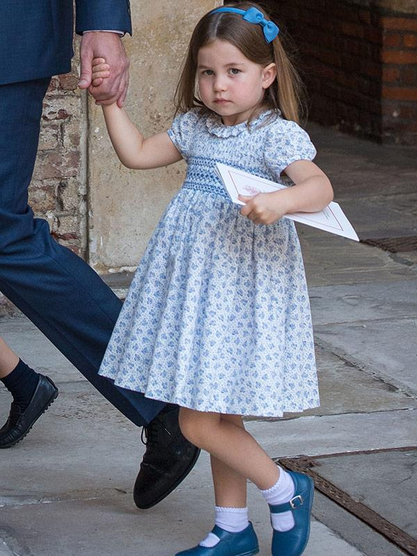 And sweet Charlotte had us cooing with her petal dress.