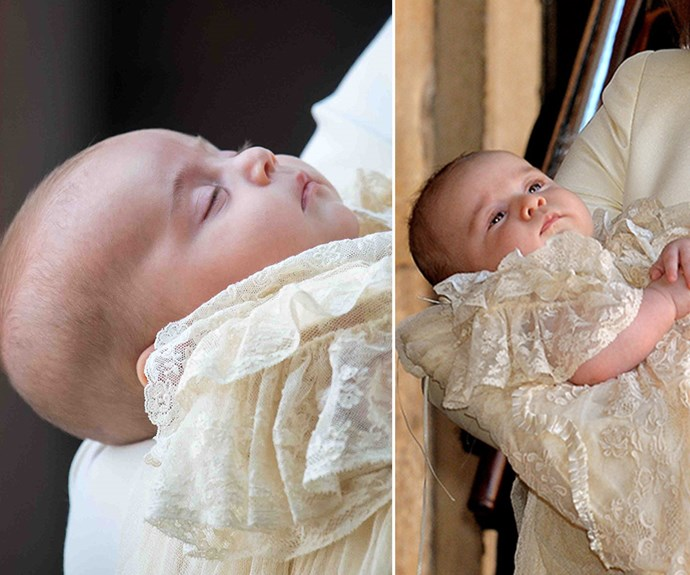 Twin princes! Prince Louis on left and Prince George on right.