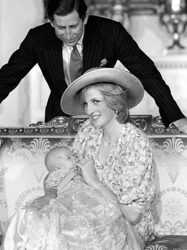 Prince William with his parents in 1982.