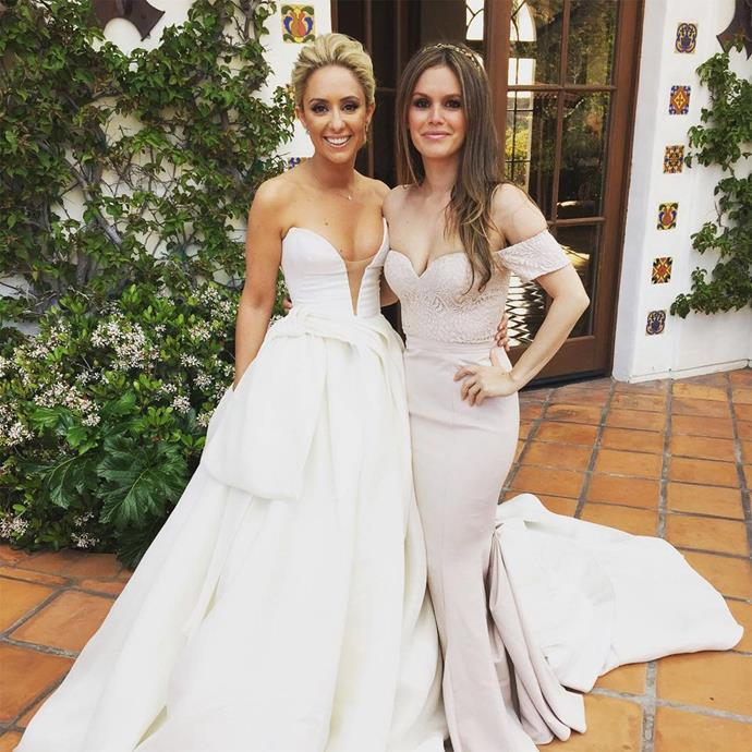 What a vision! And we're talking about Rachel Bilson, as well as her bride BFF, Gelareh Khalioun, the costume designer from Rachel's hit show *Hart of Dixie*.
