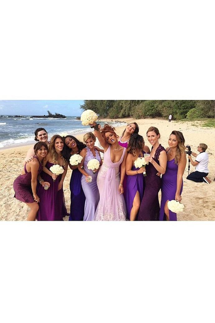 Bringing the fun at her assistant Jennifer Rosale's wedding back in 2015, Rihanna proves that being a celebrity bridesmaid doesn't mean you can't have your moment in the spotlight on the big day, too!