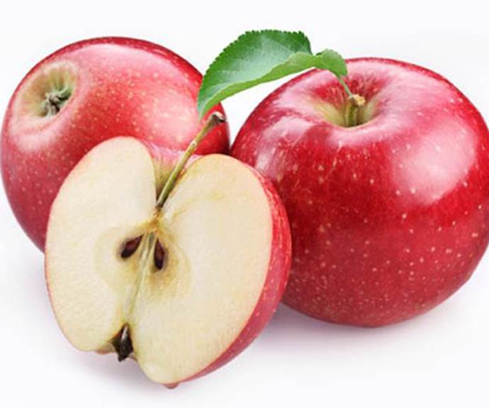 1 large apple. **106 calories**.