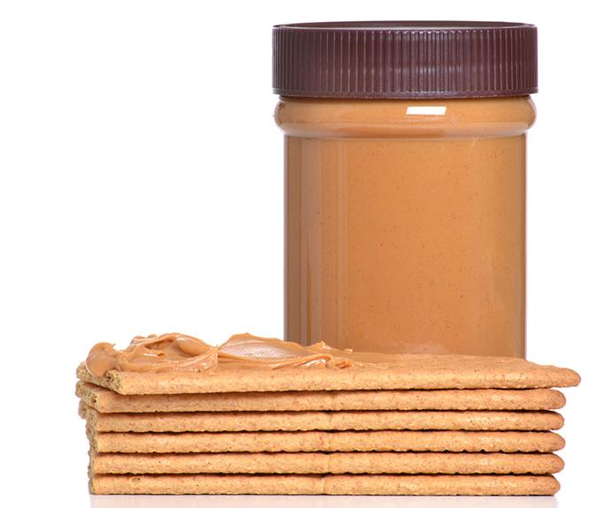2 rye cruskits with 1 tbsp of peanut butter. **162 calories**.