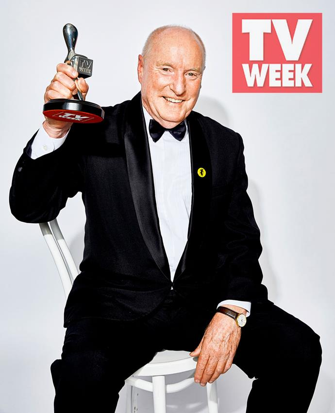 Ray with his 2018 Logie.