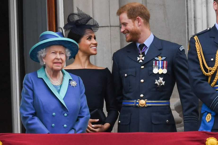 The newlyweds only had eyes for each other at the celebrations for the centenary of the Royal Air Force.
