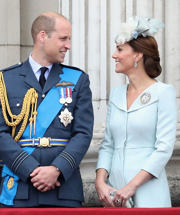 Too cute! William and Catherine share a laugh.