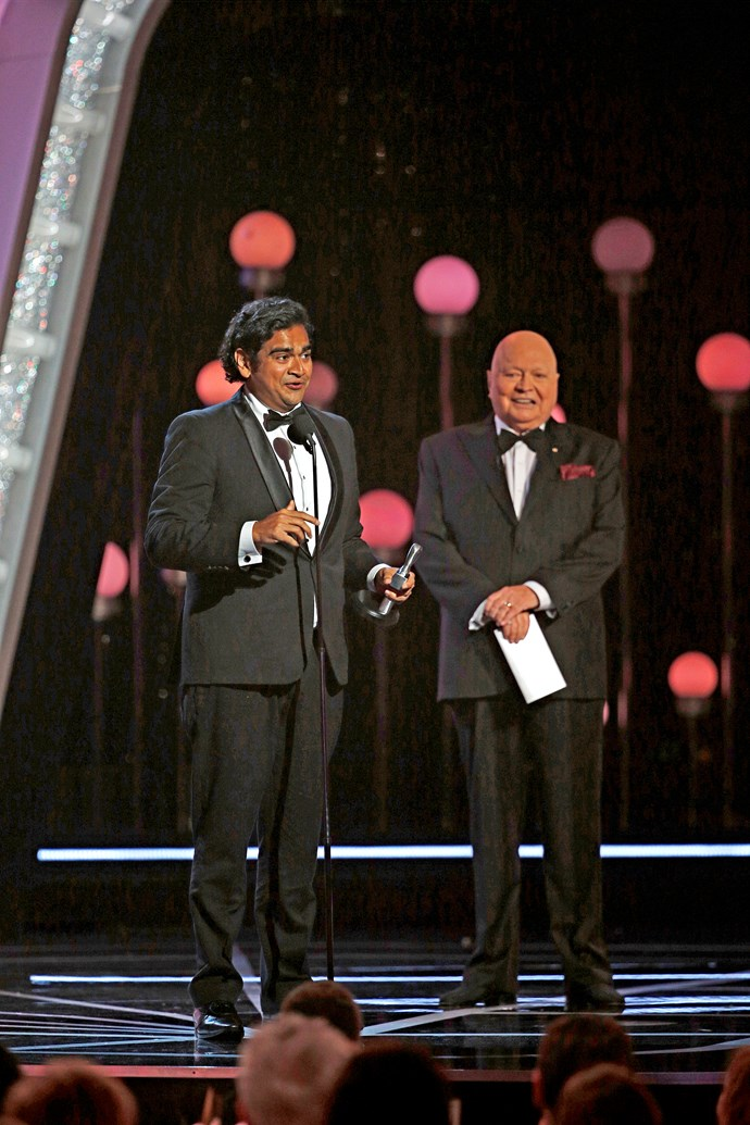 Bert with Most Popular New Talent Logie winner Dilruk.