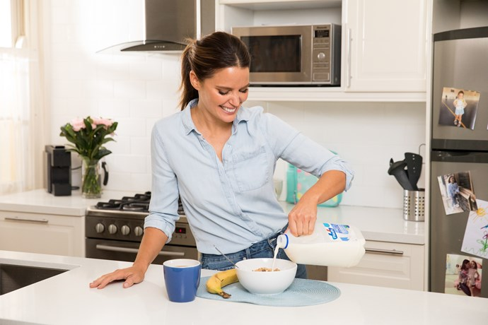 Jodi Anasta will be sharing images of her breakfast moments throughout the campaign.