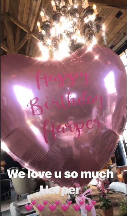 A close-up of the pretty-in-pink balloon.