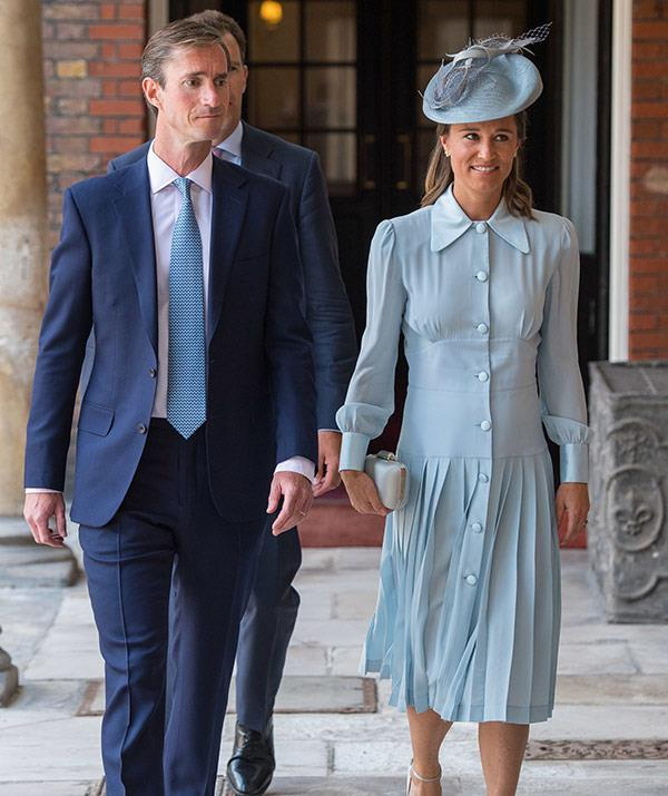 It's believed Pippa and James will welcome their first child in October.
