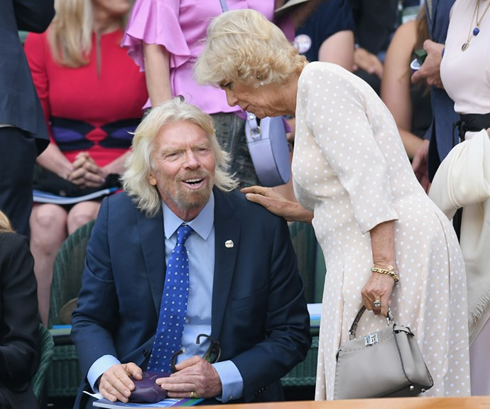 Fancy seeing you here! Richard Branson and Camilla, Duchess of Cornwall catch up in the royal box.