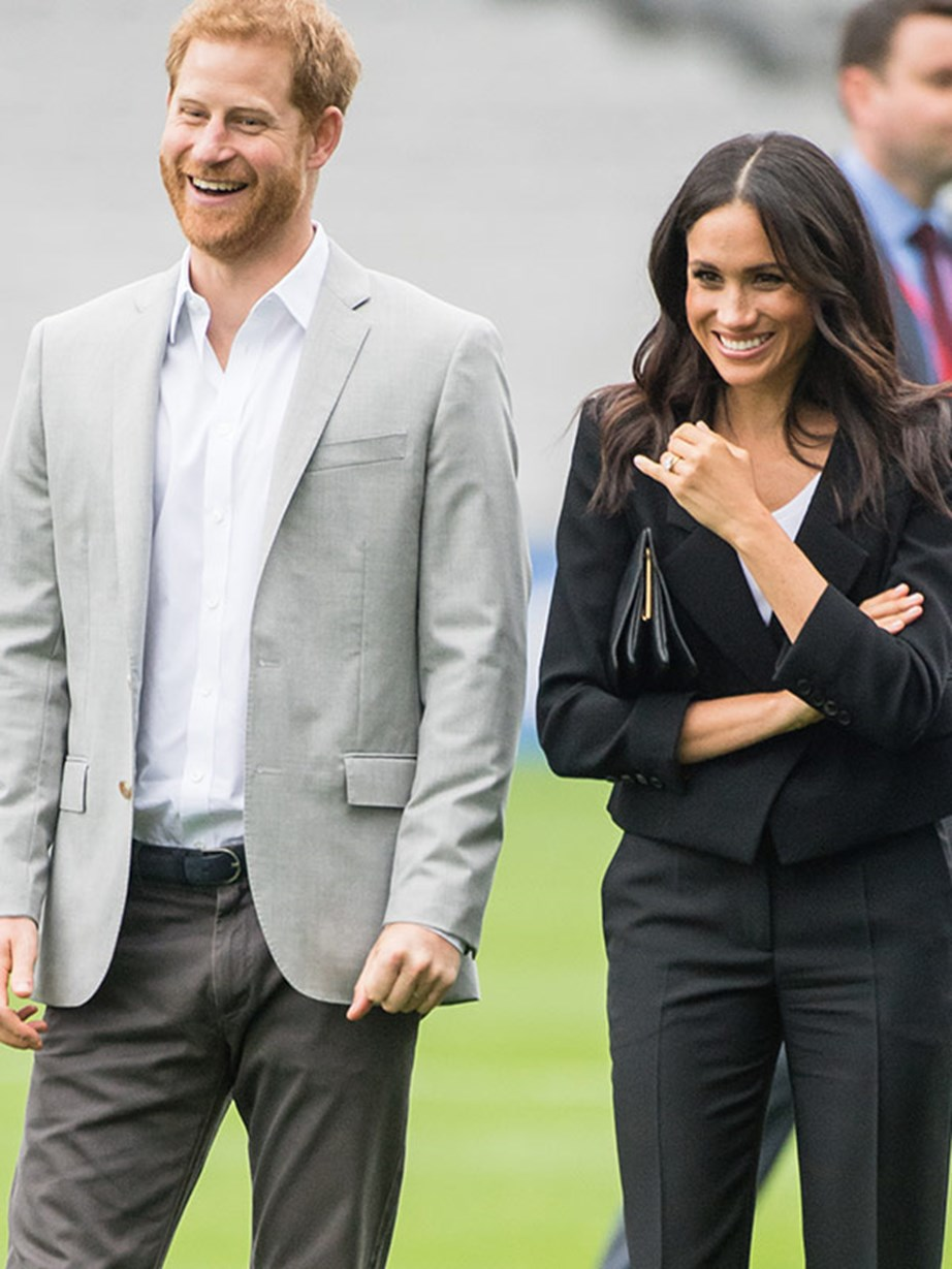 The pair were in good spirits on their first royal tour as a married couple.