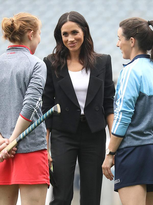 We wonder is Meghan knows that her sister-in-law Kate is a former hockey player?