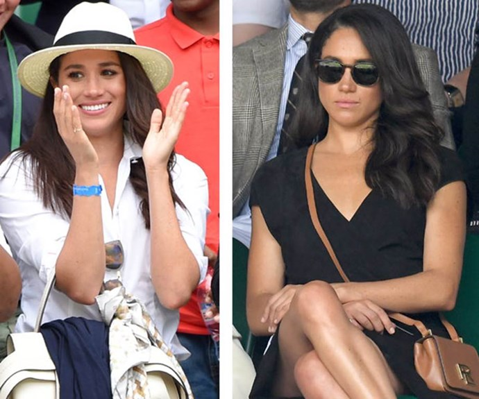 Meghan Markle, pictured at Wimbledon in July 2016 just months before the world found out about her romance with Prince Harry.