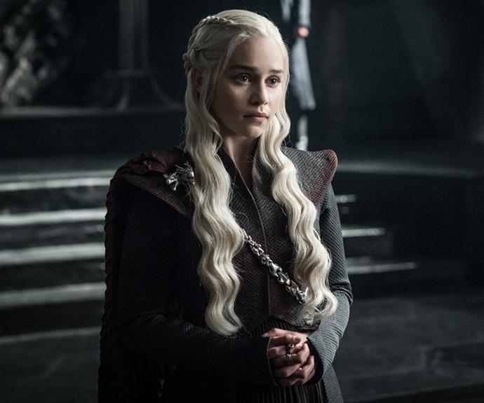 Emilia Clarke in Season Seven of *Game of Thrones.*