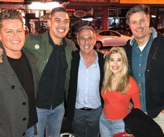 New love! John and his new girlfriend, with the *MAFS* boys.
