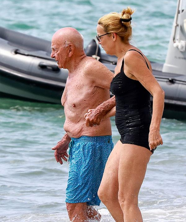 Fears for Rupert's health were sparked after he suffered a compression fracture to his back after slipping on son Lachlan's $30m yacht in the Caribbean.