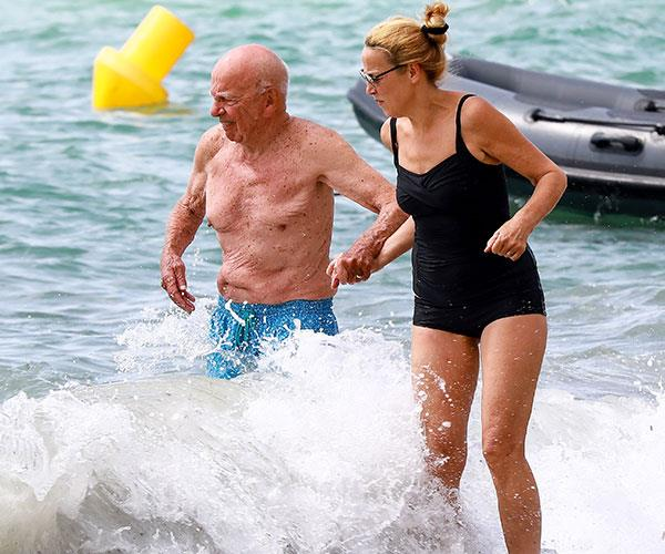 But the media mogul is on the mend and ruling the waves.