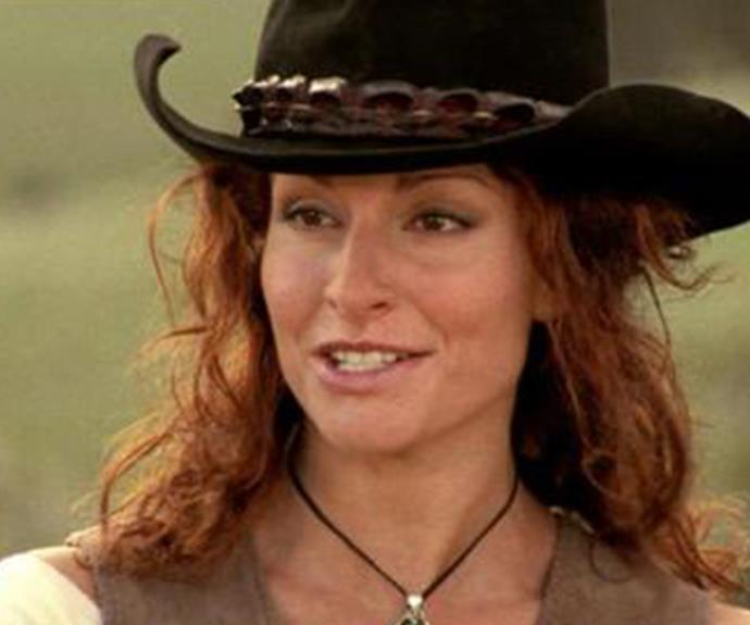 **Then: Simmone Jade MacKinnon** <br><br> Simmone played Stevie Hall, who was hired as an overseer to help manage Drover's Run. Stevie and Alex Ryan were married for a short time before Alex's death.