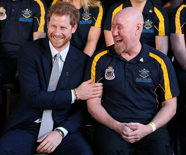 One of Australia's star competitors from the 2017 Toronto Games, Jeff Wright meeting Prince Harry.