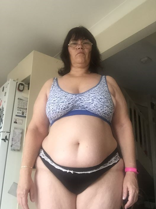"""Ana's before shot: """"Me, before I started on the 123 diet."""""""