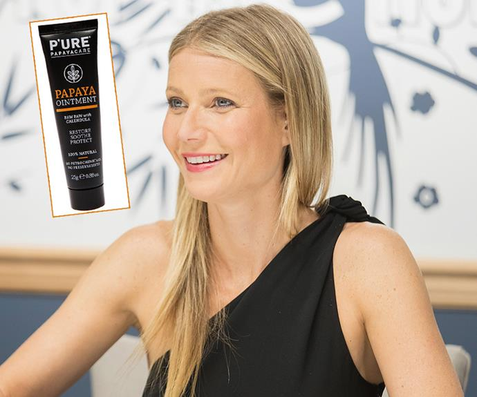 "From her glossy tresses to her glowing complexion, Gwyneth Paltrow emanates health - it's no wonder every beauty product she recommends on her coveted site [GOOP](https://shop.goop.com/shop/products/papaya-paw-paw-tube?taxon_id=603|target=""_blank""