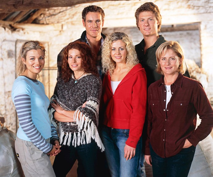 From left to right: Bridie Carter, Simone Jade Mackinnon, Aaron Jeffery, Rachael Carpani, Myles Pollard and Sonia Todd.