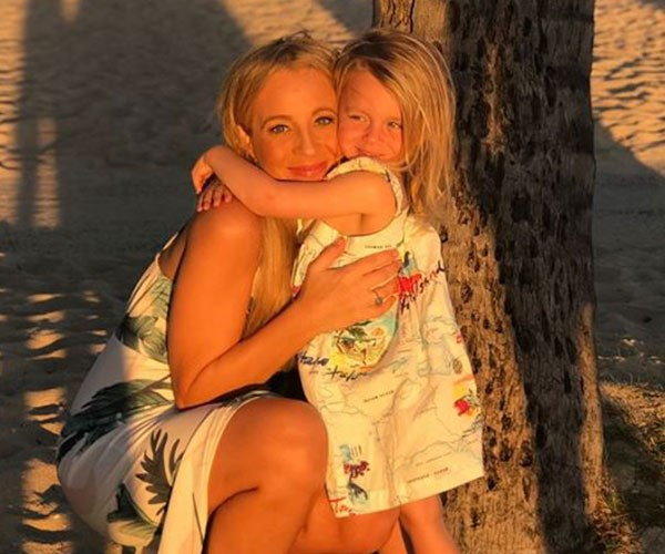 Carrie with her daughter Evie.