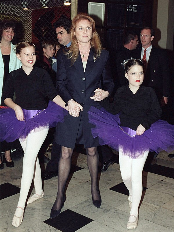 The Duchess Of York with her daughters at a Santa's Starry Night Show back in 1999, in aid of the charity.