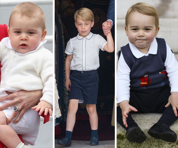 The many faces of Prince George from over the years.