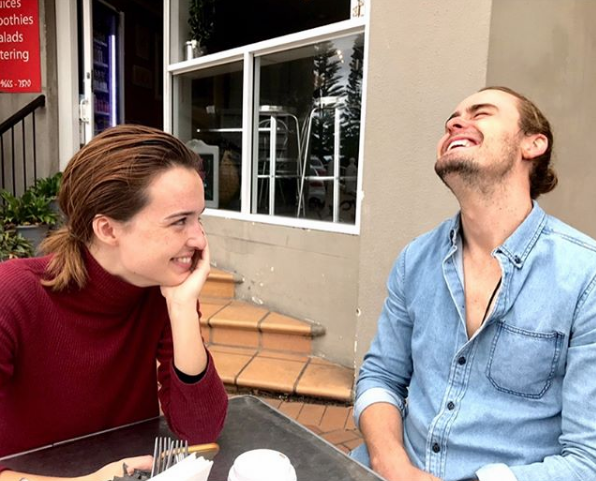 """Pip Northeast and Alec Snow played on-screen sweethearts Evelyn MacGuire and Matt Page, and in real-life they're incredibly close too.  <br><br>  """"When you've been in transit for 30 hours and you are greeted by this on arrival, all is well,"""" Pip captioned this photo."""