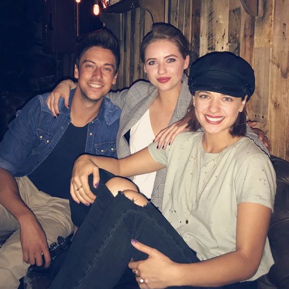 "Lincoln, Kassandra and current *Home and Away* cast member Raechelle Banno hang out in Hollywood.  ""Home and LA-yyyy,"" Lincoln captioned the picture."