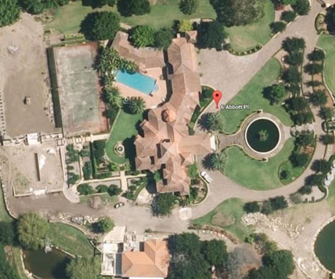 *The Bachelor* mansion from above.