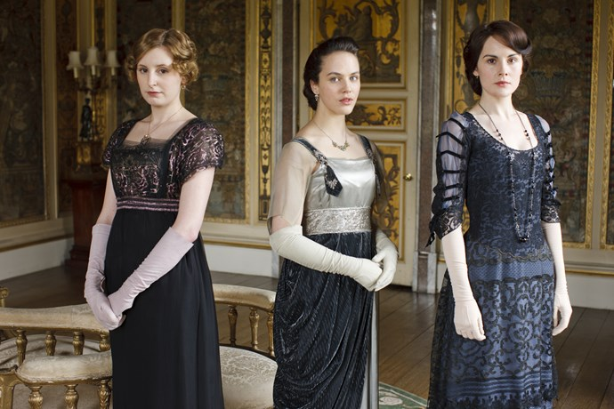The Crawley sisters from *Downton Abbey.*