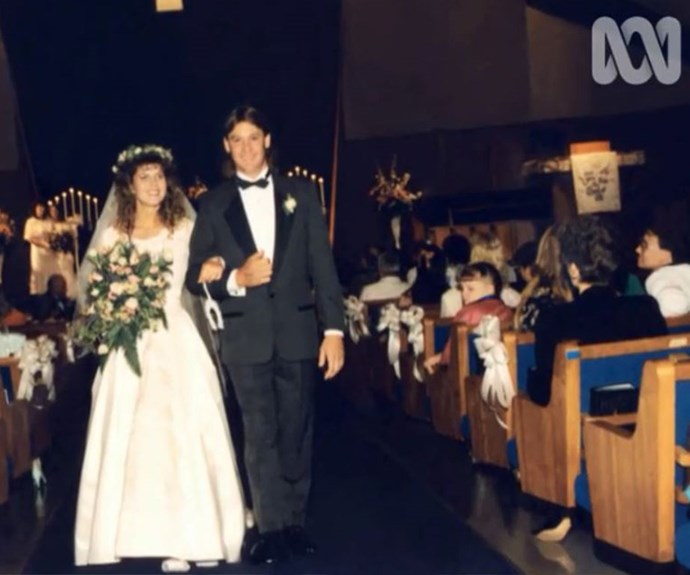 Terri and Steve on their wedding day in June 1992.