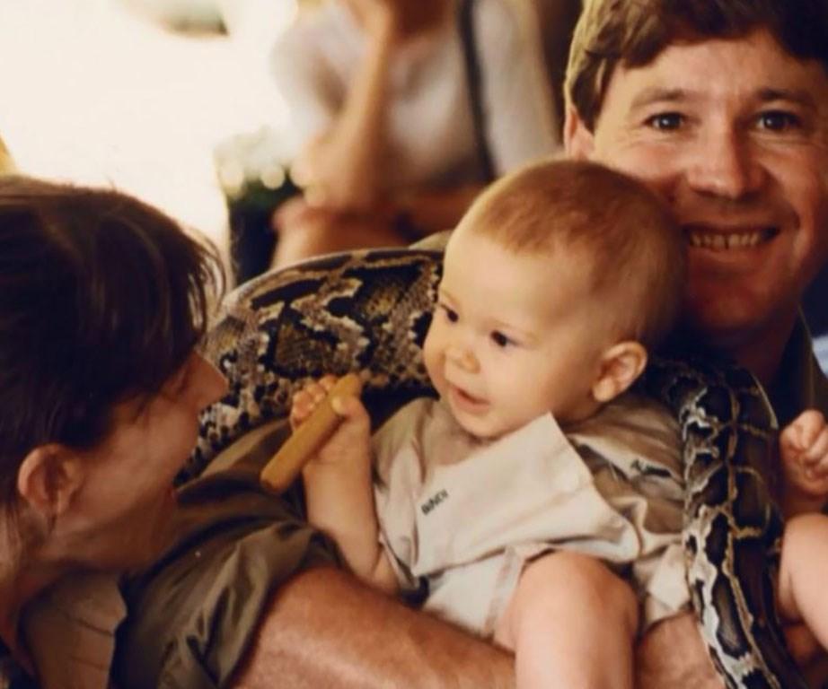Steve Irwin adored his two children.