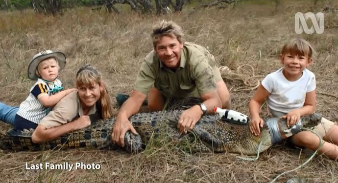 This is the Irwin's last family photo before Steve's death in 2006.