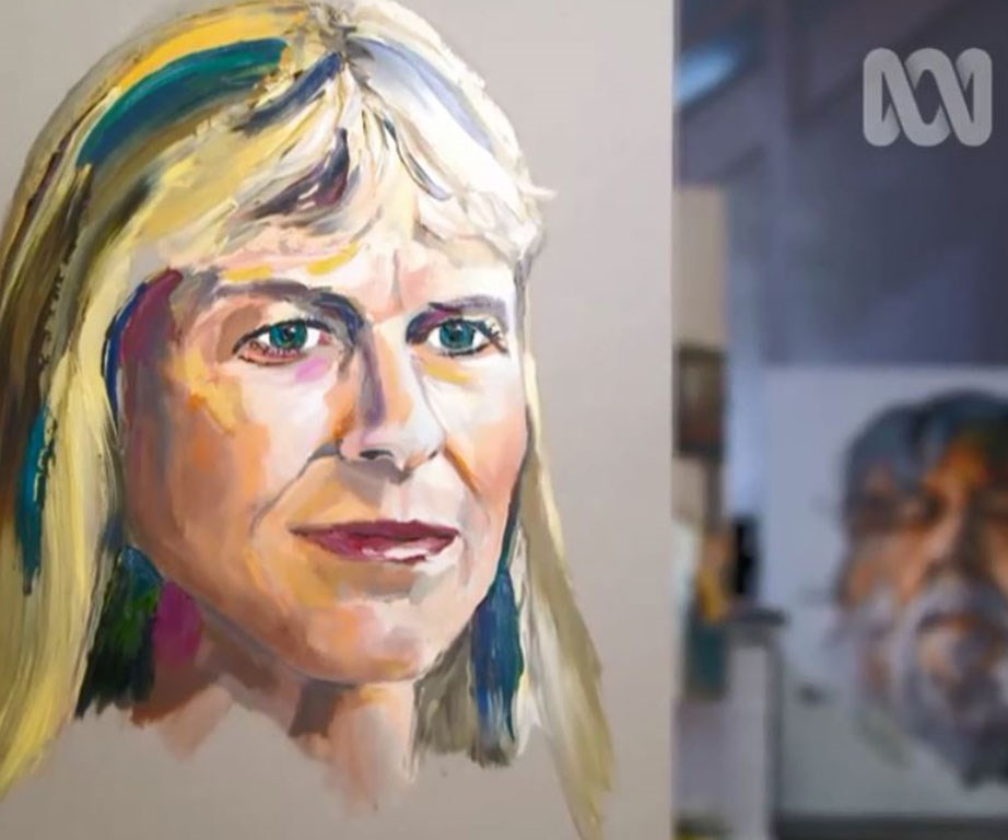 """Anh Do's final painting of Terri, which she says is """"remarkable."""" (All Images courtesy of ABC's Anh's Brush With Fame)"""