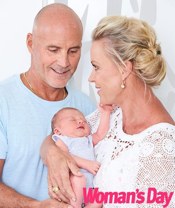 The former golden couple of sport are loving their new role as grandparents.