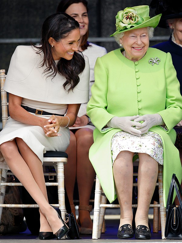 Meghan and the Queen were snapped giggling.