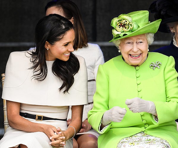 It is very rare to see Her Majesty so animated.