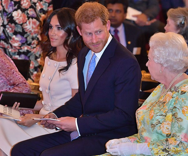 The Duke and Duchess of Sussex joined Her Majesty at the Queen's Young Leaders Awards Ceremony at Buckingham Palace on June 26, 2018.