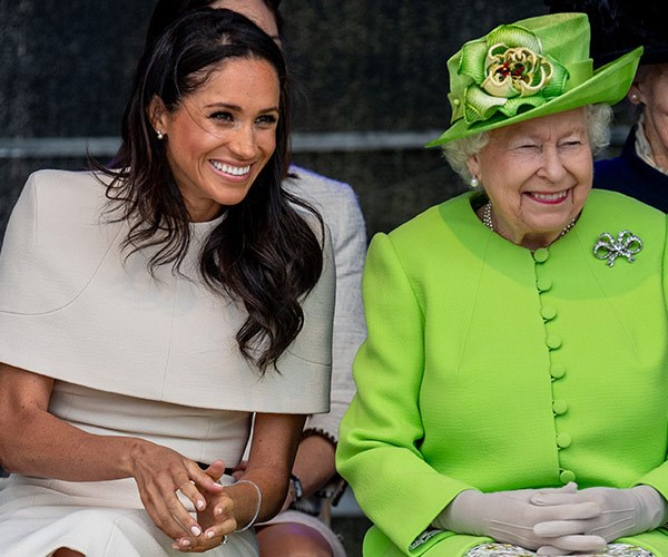 The Queen giggling is not something we see very often.