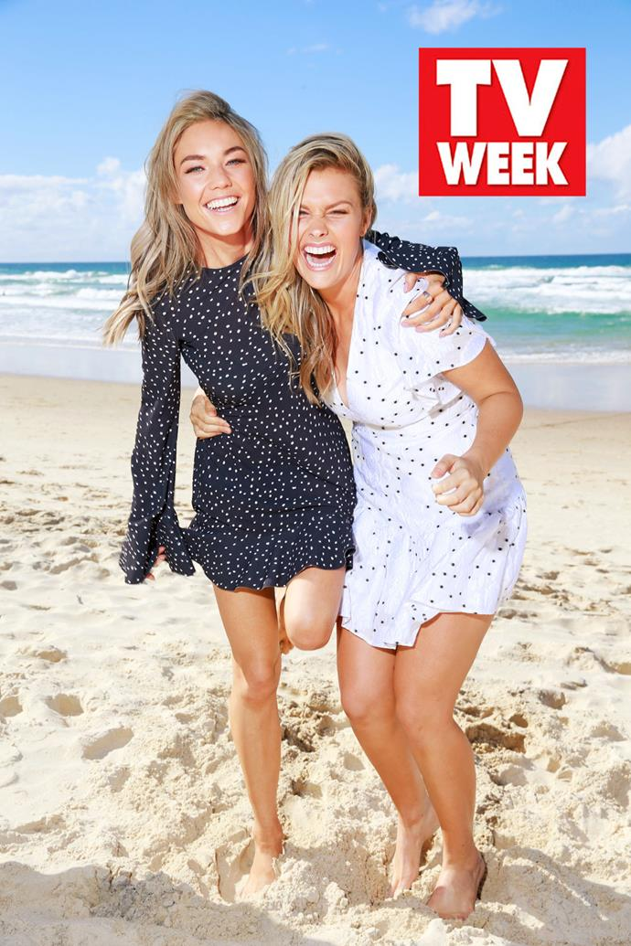 Sam Frost and Sophie Dillman from *Home and Away*.